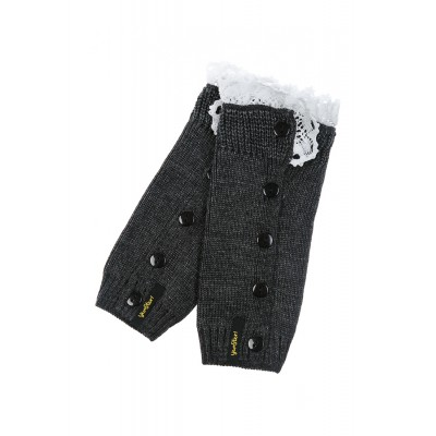 Girls Gray Knit Gaiters