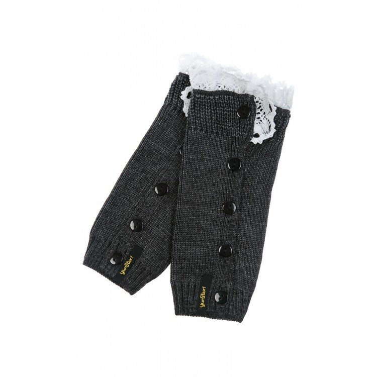 Girls Gray Knit Gaiters