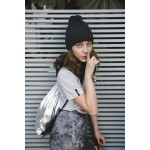 Boys & Girls Anthracite Mélange Knit Hat