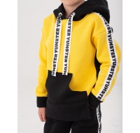 Yellow with stripes Yumster hoodie