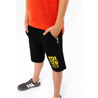 Boys & Girls Yumster Black Shorts