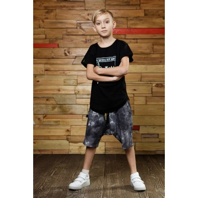 Boys Gray Mélange Shorts