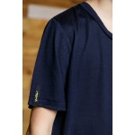 Boys & Girls Short Sleeve Blue T-Shirt with Pocket