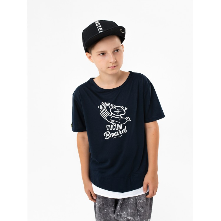 Boys & Girls Yumster Short Sleeve Black T-shirt