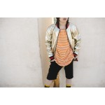 Boys & Girls Short Sleeve Orange & Milk Striped T-Shirt