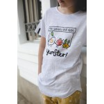 Boys & Girls Short Sleeve Yumster White T-Shirt