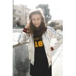 Boys & Girls Silver Bomber Jacket