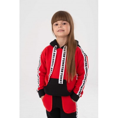 Red with stripes Yumster hoodie