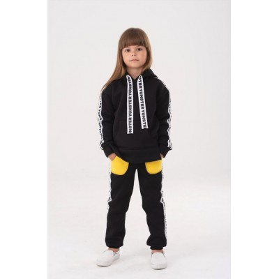 Black with stripes Yumster hoodie