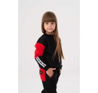 Black&Red with stripes Yumster sweatshirt
