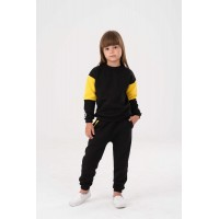 Black&Yellow with stripes Yumster sweatshirt