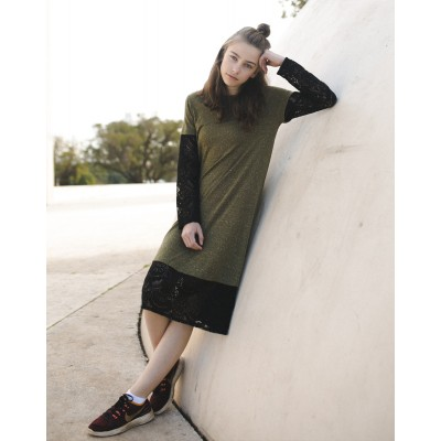 Girls Green & Black Yumster dress