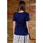 Boys & Girls Short Sleeve Blue T-Shirt