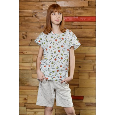 Boys & Girls Short Sleeve Shakshuka White T-Shirt with Pocket