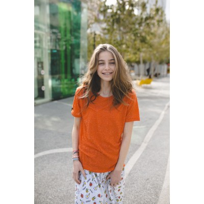 Boys & Girls Short Sleeve Orange T-Shirt