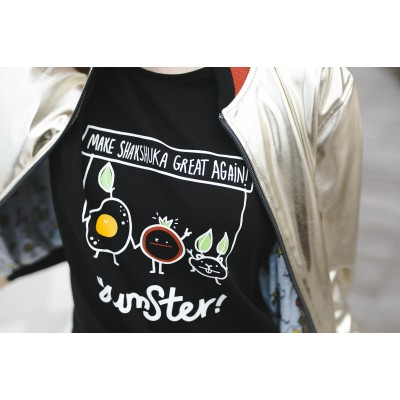 Boys & Girls Short Sleeve Yumster Black T-Shirt