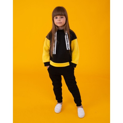 Black Yumster pants with yellow pockets