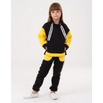Black Yumster pants with yellow patch pockets