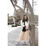 Girls Beige Midi Skirt