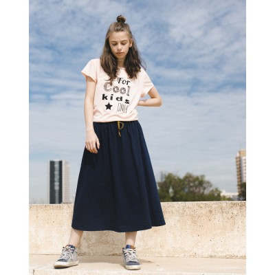 Girls Blue Midi Skirt