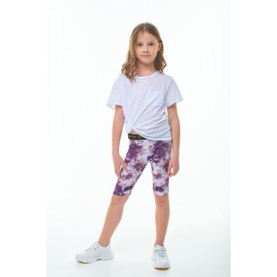 Велосипедки фиолетовые тай-дай для девочек