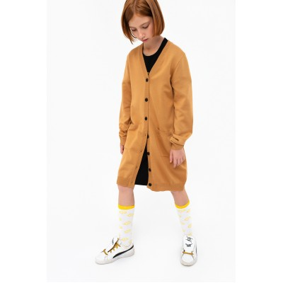 Boys & Girls Light Brown Cardigan Coat