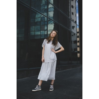 Girls Short Sleeve Gray T-shirt