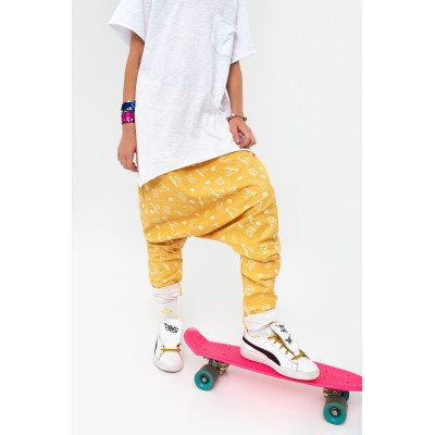 Boys & Girls Cucumber Mustard Cotton Pants