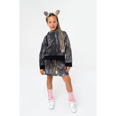 Girls Gray Mélange Skirt